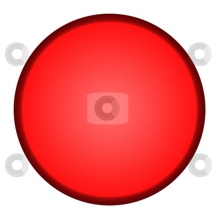 Red button stock photo, Glossy red button isolated on white background. by Martin Crowdy