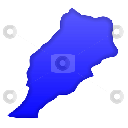 Morocco map stock photo, Morocco map in blue isolated on white background with clipping path and copy space. by Martin Crowdy