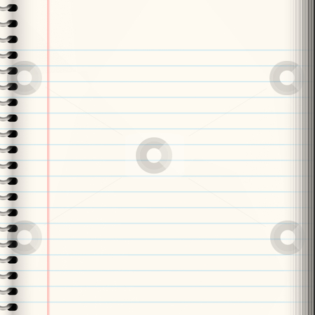 School book stock vector clipart, Nice image of a book of ruled or lined paper by Phil Morley