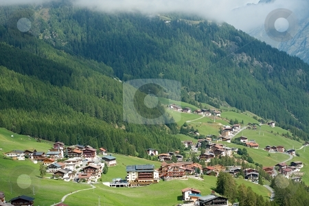 Valley stock photo, Beautiful valley in the Alps in Austria by P?