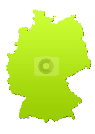Germany map stock photo, Germany map in green, isolated on white background. by Martin Crowdy