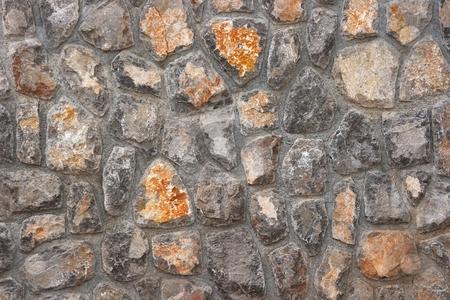 Stone Wall stock photo, Stone wall texture closeup by P?