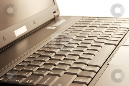 Laptop stock photo, Closeup of a laptop keyboard by P?