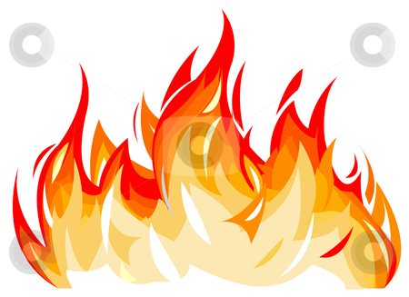 Vector Illustration Of Flames Stock Vector