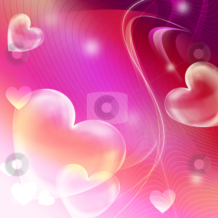 Heart background stock photo, Heart on the  abstract pink background by Su Li
