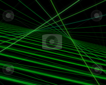Green lines stock photo, Green lines on black background by Igor Nazarenko
