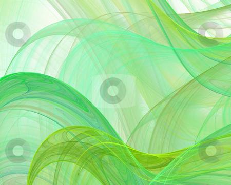 Abstract green silk stock photo, Abstract green silk on white by Igor Nazarenko