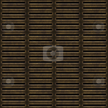 Old metal grill stock vector clipart, Large image of old weathered metal grill by Phil Morley
