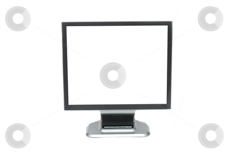 Monitor stock photo, Blank white lcd screen isolated on white by P?