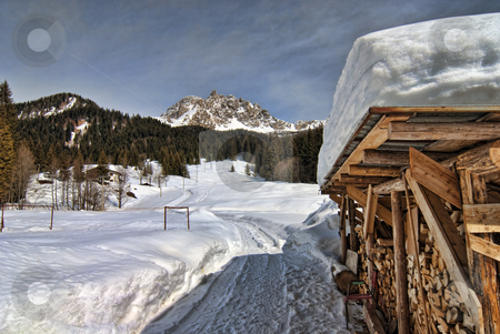 Snow on the Dolomites Mountains, Italy stock photo, Cold Winter in the Heart of Dolomites, Veneto, Northern Italy by Giovanni Gagliardi