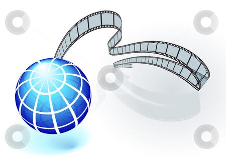 International film festival background stock vector clipart, Original Vector Illustration: International film festival background AI8 compatible by L Belomlinsky