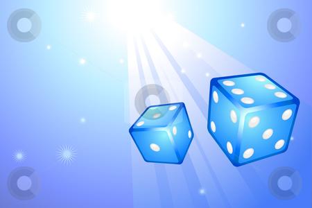 Blue Dice on Internet Background stock vector clipart, Blue Dice on Internet Background Original Vector Illustration Dice Ideal for Game Concept by L Belomlinsky