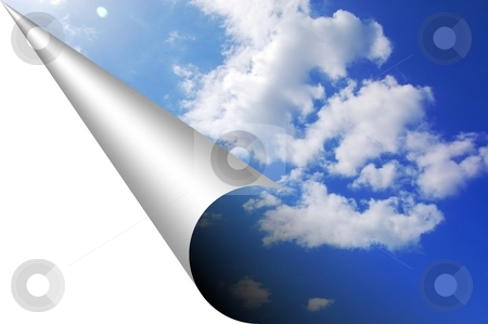 Sky stock photo, Sky and corner with copyspace for your text message by Gunnar Pippel