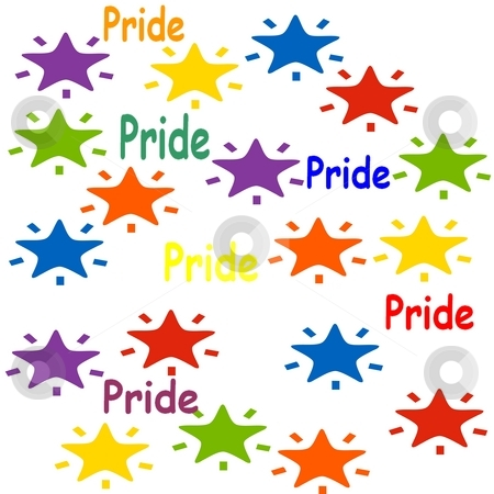 Gay Pride Stars stock photo, Great design for t-shirts, backgrounds etc by CHERYL LAFOND
