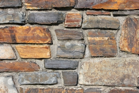 Wall stock photo, Stone wall background texture by P?