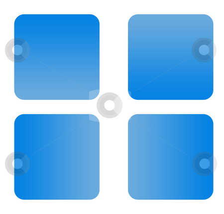 Blue gradient buttons stock photo, Blue gradient buttons with copy space isolated on white background. by Martin Crowdy