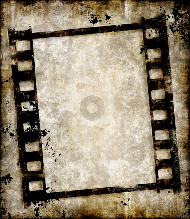 Grungy Film Strip Or Photo Negative Stock Vector