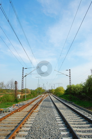 Railroad stock photo, Railroad or railway showing concept of industrial transportation by Gunnar Pippel