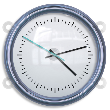 Isolated Clock stock photo, Isolated Clock Stylish and Modern Clip Art by Kheng Ho Toh