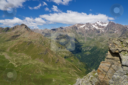 High Pejo valley stock photo, Summer view of Pejo valley in Stelvio National Park, Trentino, Italy by ANTONIO SCARPI