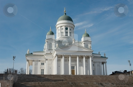 Cathedral stock photo, The main cathedral in Helsinki, Finland by P?