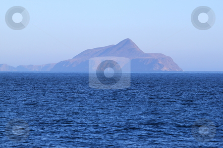 Anacapa Island stock photo, Anacapa Island at Channel Islands California with the ocean in the foreground by Henrik Lehnerer