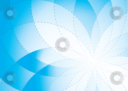 Floral radiate background blue stock photo, Rainbow abstract background banner with room to add your own text by Michael Travers