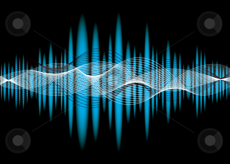Music equaliser wave stock vector clipart, Blue music equalizer abstract background with wave effect by Michael Travers