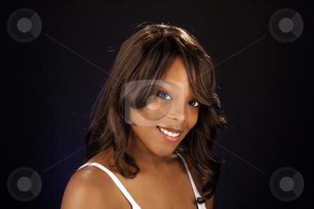 Beautiful BlackWoman, Headshot (7) stock photo, An extraordinarily beautiful young black woman. by Carl Stewart
