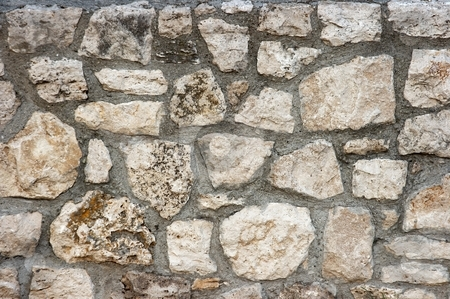 Wall stock photo, Old stone wall by P?