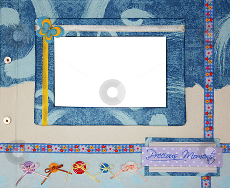 Scrapbook photo frame stock photo, A hand crafted scrapbook photo frame by Rey Gabudao