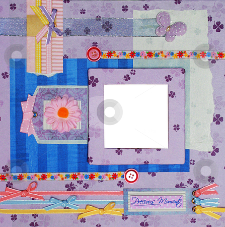 Scrapbook photo frame stock photo, A hand crafted scrapbook photo frame by Rey Gabudao