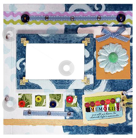 Scrapbook design stock photo, A hand crafted colorful scrapbook album design by Rey Gabudao