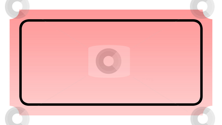 Blank pink ticket stock photo, Blank pink ticket isolated on white background with copy space. by Martin Crowdy