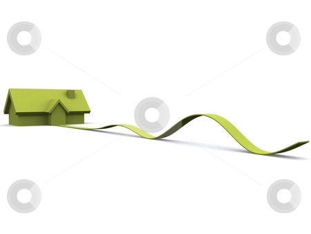 House stock photo, A 3d maded house on a white background by Jan Schering