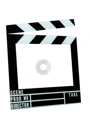 Movie Slate Board stock photo, Movie slate board with clipping path. by Danny Hooks