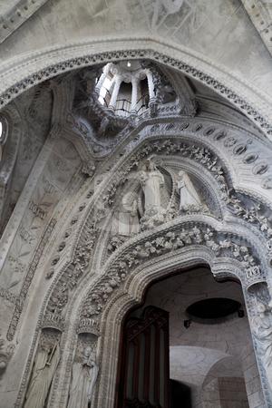 Sagrada Familia stock photo, Details of the large Sagrada Fam?lia in Barcelona, Spain by Kevin Tietz
