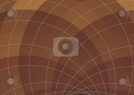 Brown spiral background stock photo, Abstract brown background with square checked pattern and copyspace by Michael Travers