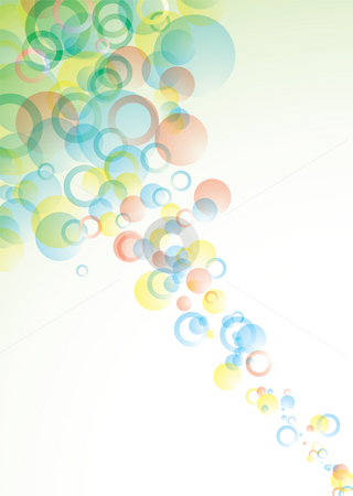 Bubble float stock photo, Abstract circular background with bubbles in pastel colours by Michael Travers