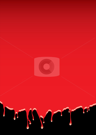 Red blood dribble background stock vector clipart, Abstract red blood background with dribble effect and room for text by Michael Travers