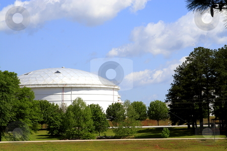 Fuel Depot stock photo, Fuel depot storage tank architecture with a natural  foreground by Jack Schiffer