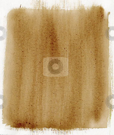 Brown painted background with canvas texture stock photo, Light brown watercolor painted abstract on white artist canvas, selfmade by photographer by Marek Uliasz