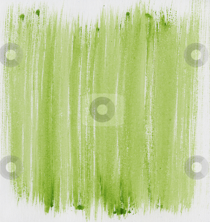 Green painted abstract on canvas stock photo, Light green watercolor painted abstract on white artist canvas, self made by photographer by Marek Uliasz