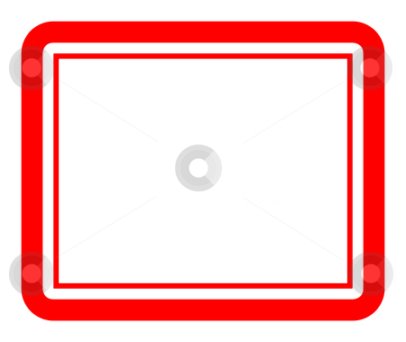 Blank red stamp stock photo, Blank red stamp isolated on white background, with copy space. by Martin Crowdy