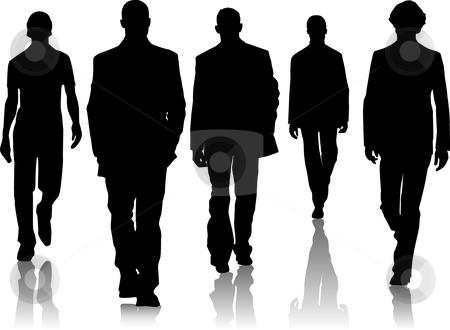 Silhouette fashion men stock vector clipart, Silhouette fashion men by Desislava Draganova