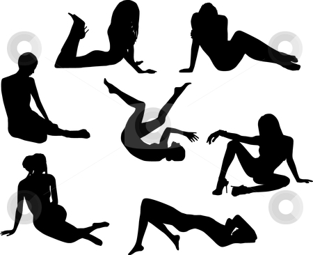 Nude girls stock vector clipart, Nude girls by Desislava Draganova