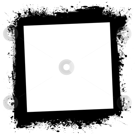 Grunge splat ink frame stock vector clipart, Ink splat grunge frame with blank space with border by Michael Travers