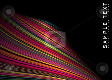 Twisted rainbow wave stock photo, Abstract rainbow background with room to add your own text by Michael Travers