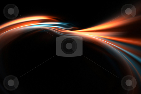 Flowing Swoosh Layout stock photo, A glowing fractal design that works great as a background or backdrop. by Todd Arena