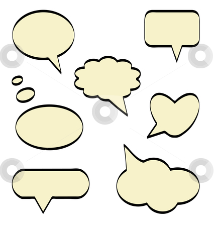 Comic balloons stock vector clipart, An illustration of comics balloons, isolated on white background by Alejandro Lozano campa?